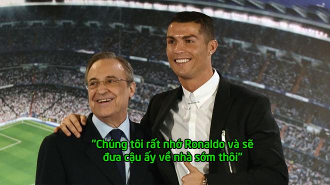 Chính thức: Chủ tịch Perez tuyên bố sẽ đưa Ronaldo trở lại bằng mọi giá, fan Real khắp TG mở tiệc ăn mừng đi thôi