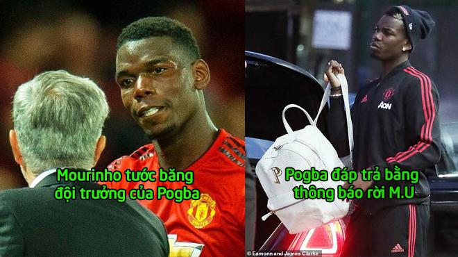 """Dám công khai """"gây chiến"""", Pogba nhận đòn trừng phạt nặng nề từ Mourinho, ngày anh bỏ sang Barca cận kề rồi"""