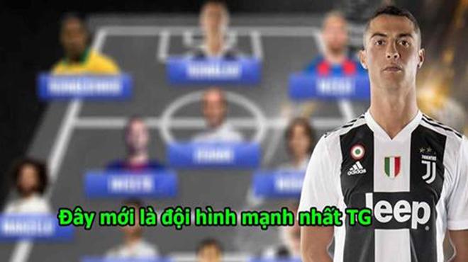 Bất mãn với FIFA, Ronaldo tự chọn ra đội hình tiêu biểu của mình, hàng công đơn giản là không thể cản nổi