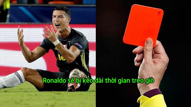 Chọc giận UEFA khiến tất cả nổi cơn thịnh nộ, thẻ đỏ của Ronaldo bị gia hạn thêm thời gian, Juve khốn khổ rồi