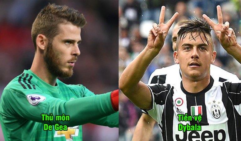 Đội hình siêu mạnh kết hợp MU và Juventus: Hàng công đã mạnh mà hàng thủ còn chắc như đá tảng