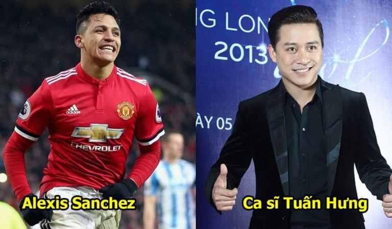15 cặp sao bóng đá và nghệ sĩ giống như hai giọt nước: Nhìn Tuấn hưng và Sanchez cứ tưởng anh em sinh đôi