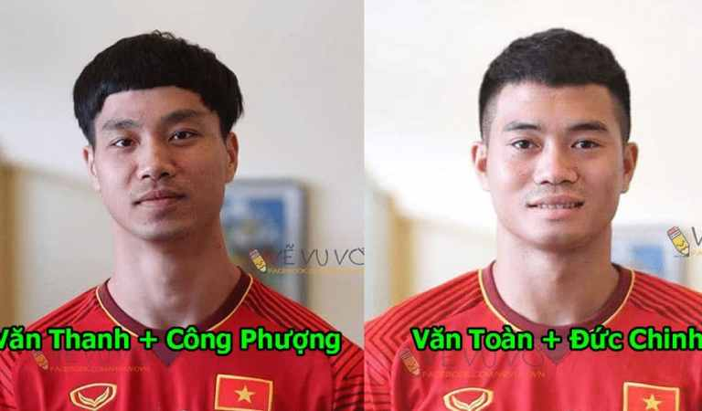 Chùm ảnh: Các siêu sao U23 Việt Nam ra sao khi bị ghép mặt vào nhau, kéo đến Xuân Trường mà cười rụng rốn