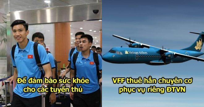 Để đảm bảo sức khỏe và khônng mất thời gian, ĐT Việt Nam đi chuyên cơ riêng sang Philippines đá bán kết AFF