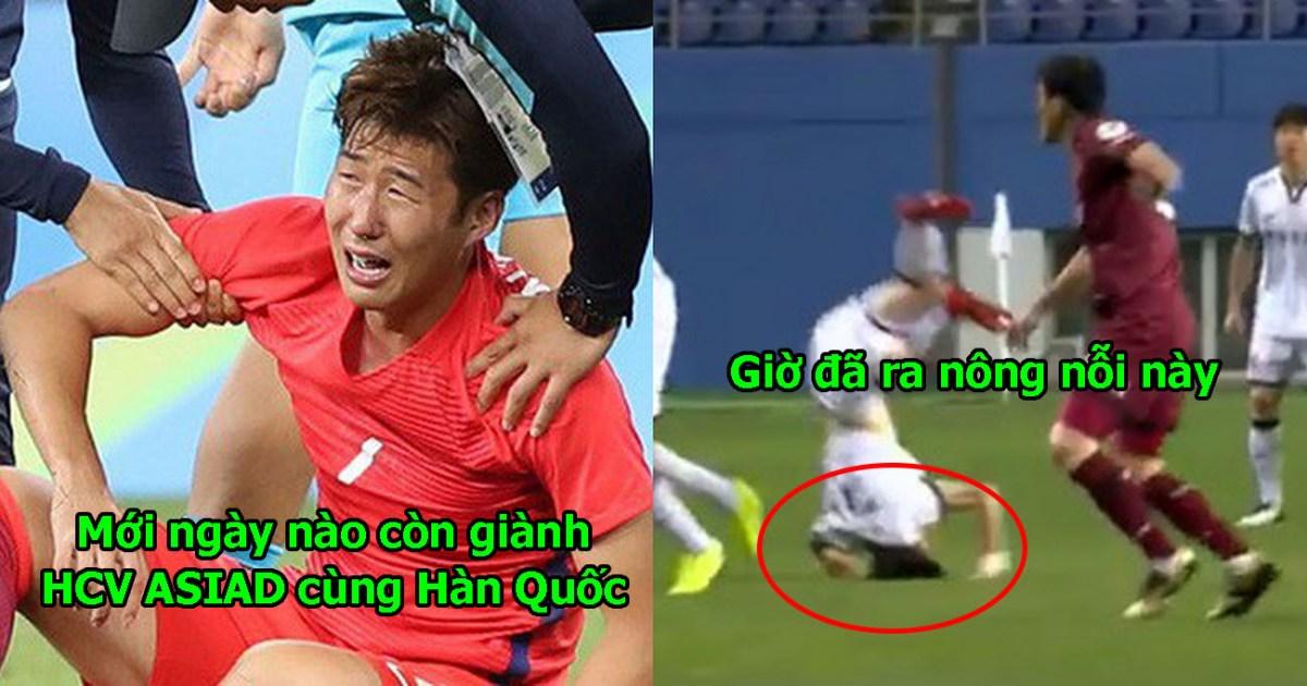 Tiếp đất lỗi, siêu sao Hàn Quốc từng đánh bại Việt Nam ở ASIAD g.ã.y cổ, mất trí nhớ ngay trên sân