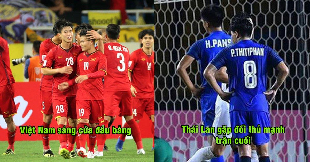 BXH AFF Cup 2018: Việt Nam chắc suất vào bán kết, Thái Lan vẫn có nguy cơ bị loại