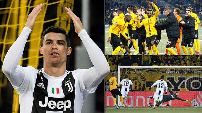 Ronaldo vô duyên đến khó tin, Juventus thua S.Ố.C trước nhược tiểu Young Boys