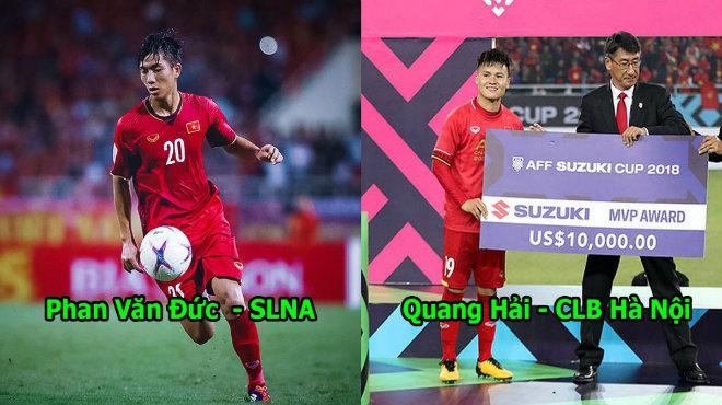 """Công bố Top 5 Quả Bóng Vàng Việt Nam 2018: """"Song Đức"""" cùng 1 cầu thủ HAGL chọi lại 2 người Hà Nội FC"""