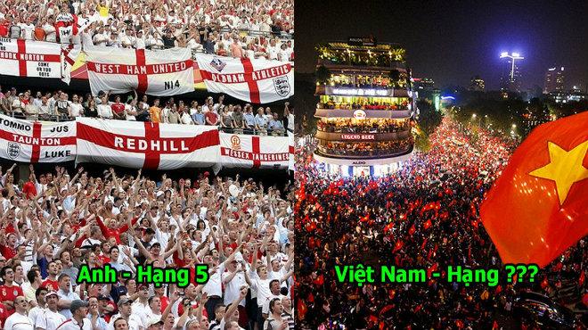 """Báo Mỹ công bố 10 quốc gia có CĐV yêu bóng đá nhất thế giới: Việt Nam """"đè bẹp"""" các cường quốc năm châu"""