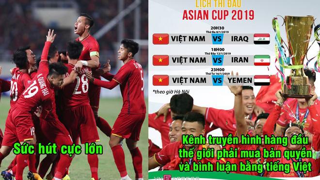 Chính thức: Các trận của Việt Nam tại Asian Cup được phát sóng bằng tiếng Việt trên kênh truyền hình hàng đầu nước Mỹ