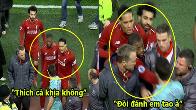 Thấy Salah bị cầu thủ Arsenal cà khịa, Van Dijk hùng hổ cứu nguy khiến cả sân vỗ tay nể phục