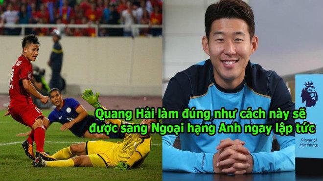 """Son Heung Min """"chỉ cách"""" lách luật để Quang Hải đến Ngoại Hạng Anh chơi bóng, giấc mơ sắp thành sự thật rồi!"""