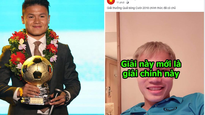 Chẳng cần QBV, Văn Toàn được đồng đội trao cho giải thưởng danh giá hơn nhiều, BTC trao thiếu giải rồi