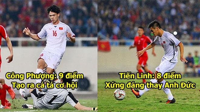 Chấm điểm Việt Nam 1-1 Triều Tiên: Công Phượng xứng đáng cao điểm nhất