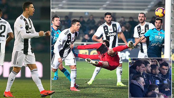 Ronaldo 'gánh Team' tuyệt vời, Juventus thoát hiểm nghẹt thở tại t.ử huyệt Atleti Azzurri