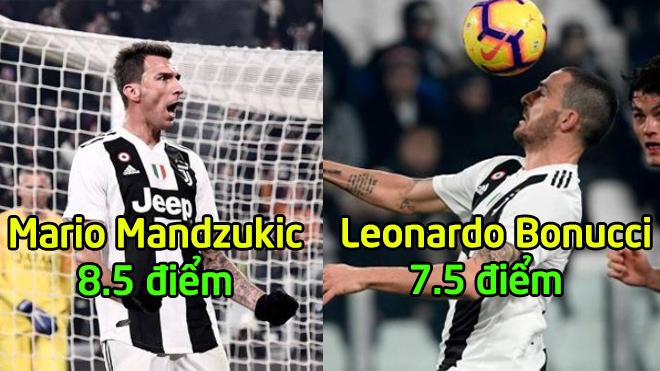 Chấm điểm Juventus trận AS Roma: Lần đầu tiên Ronaldo nhận điểm số thấp đến như vậy