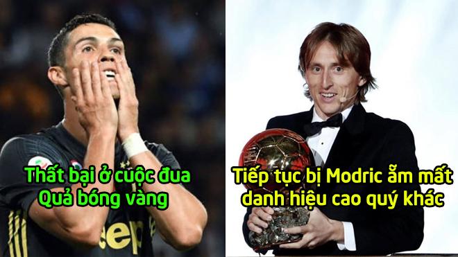 """Sau quả bóng vàng, Ronaldo bị Modric """"đè đầu cưỡi cổ"""" ở hạng mục cầu thủ hay nhất năm"""