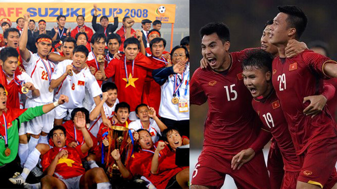 Thế hệ vô địch AFF 2008 tề tựu tại trận chung kết, cùng nhau cổ vũ các đàn em viết nên trang sử mới cho BĐVN