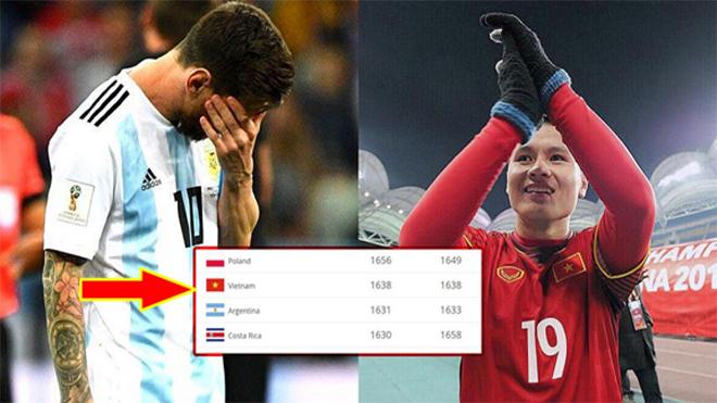 Vượt mặt cả ĐT Argentina, ĐT Việt Nam khép lại năm 2018 với vị trí cao không tưởng trên BXH FIFA