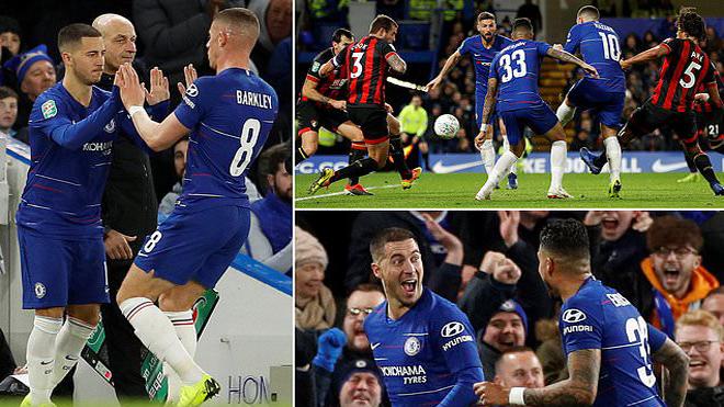 Hazard ra chân nhanh như điện, Chelsea CHÍNH THỨC góp mặt tại bán kết League Cup 2018/19