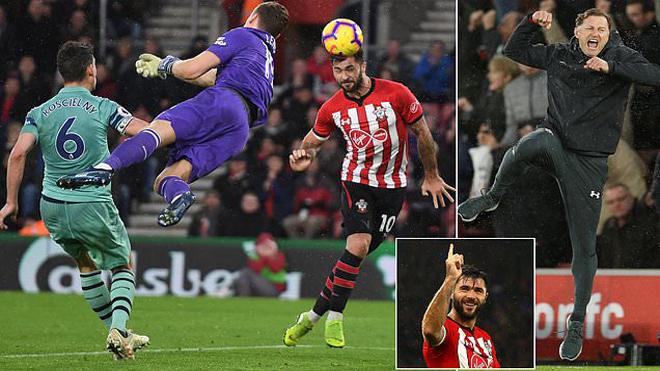 Hàng thủ thi đấu tệ hại, Arsenal chính thức bị Southampton chấm dứt chuỗi bất bại dưới triều đại HLV Emery