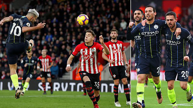 Di.ệt gọn Southampton trong hiệp một; Man City gửi lời tuyên chiến đanh thép đến Liverpool