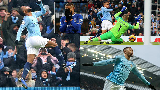 Đá trên sân nhà, Man City 'xử đẹp' Everton bằng cơn mưa bàn thắng