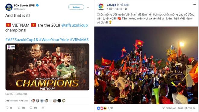 Truyền thông thế giới ngả mũ, bạn bè quốc tế thay nhau gửi lời chúc mừng tời Đội tuyển Việt Nam