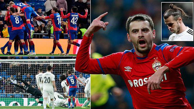 """Chủ quan khinh đị.ch, Real nhận thất bại """"n.h.ụ.c nhã"""" ngay trên sân nhà trước CSKA Moscow"""