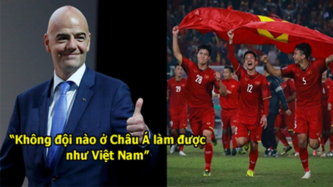 """Đích thân FIFA ca ngợi chiến công của ĐTVN : """"Họ là niềm tự hào châu Á, các nước khác phải học tập họ"""""""