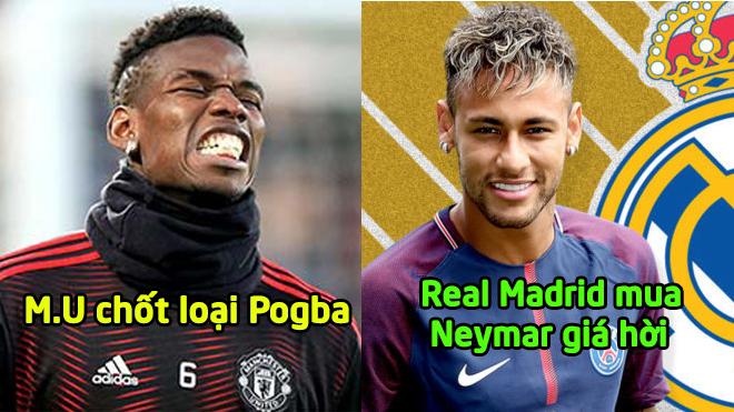 TIN CHUYỂN NHƯỢNG 27/12: M.U vẫn quyết định tống khứ Pogba; Real mua Neymar với giá không ngờ