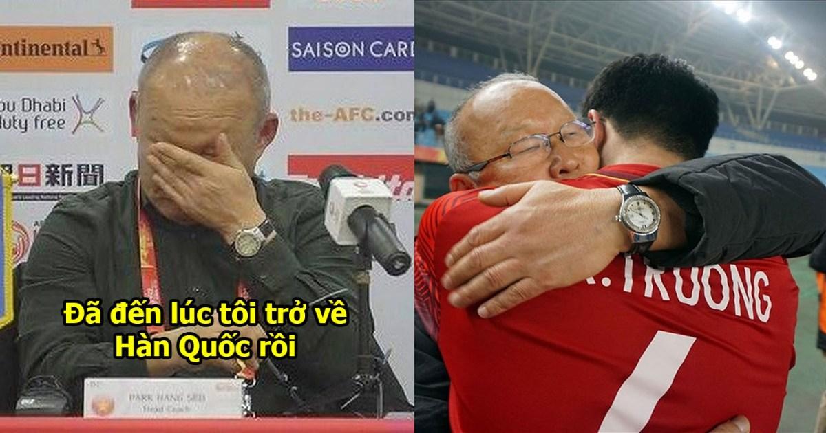 Chia tay ĐT Việt Nam để trở về Hàn Quốc, HLV Park Hang-seo lưu luyến ôm hôn tạm biệt từng học trò