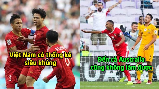 """""""Phát sốt"""" với thống kê """"tuyệt đỉnh"""" của Việt Nam sau 90 phút đấu Jordan tại vòng 1/8 Asian Cup 2019"""