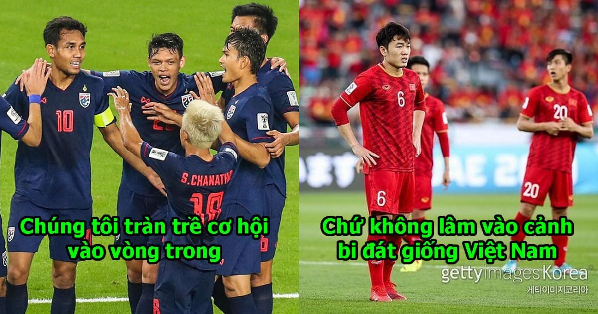 """Vừa thắng trận đầu tiên ở Asian Cup, CĐV Thái Lan lại gáy to: """"Chúng tôi vẫn luôn đứng trên Việt Nam"""""""