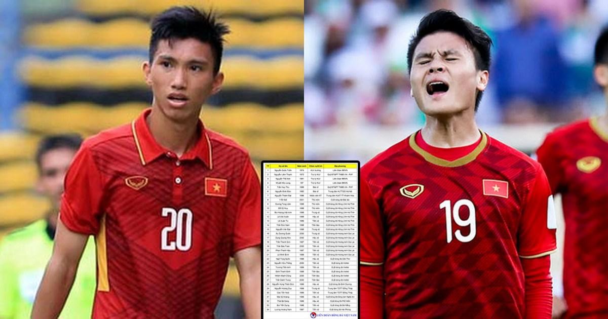 Công bố danh sách chính thức 27 cầu thủ U22 Việt Nam dự giải Đông Nam Á: Quang Hải, Văn Hậu không có tên