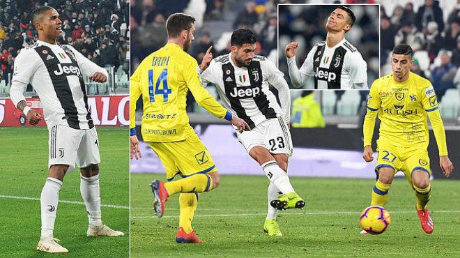 Kết quả Juventus vs Chievo: Ronaldo bắn phá, siêu phẩm solo khai thông
