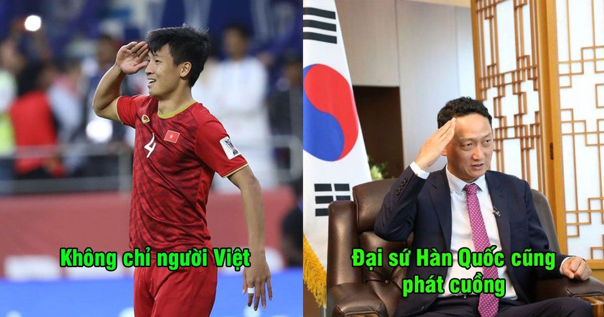 """Đại sứ Hàn Quốc: """"Hành động ăn mừng của Bùi Tiến Dũng đã thể hiện tình yêu nước vô hạn"""""""
