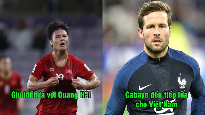 Giữ đúng lời hứa với Quang Hải, Yohan Cabaye đích thân đến sân cổ vũ Việt Nam trong ngày quyết đấu Nhật Bản