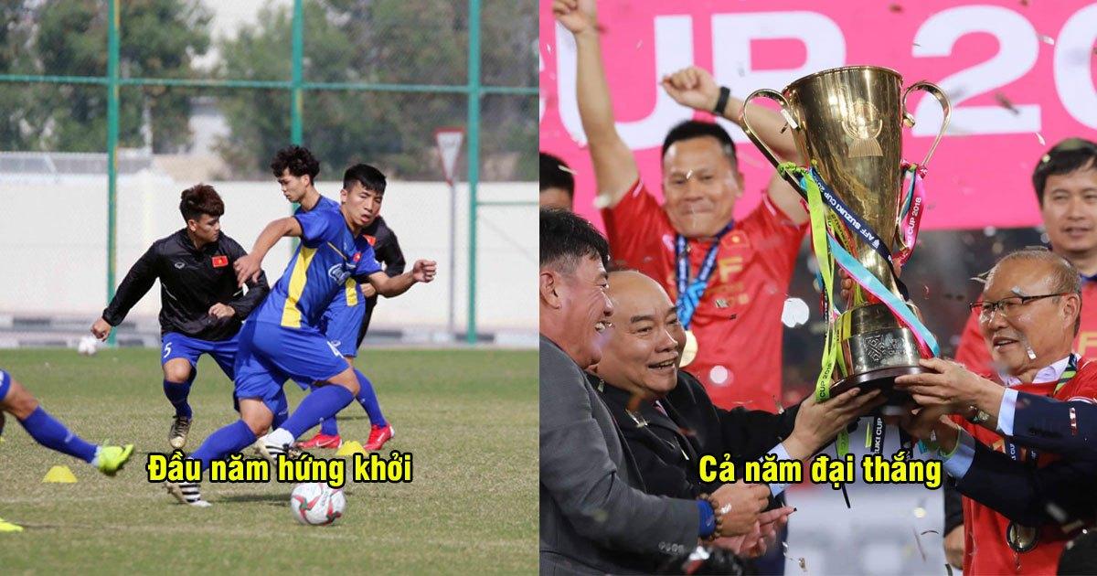CHÙM ẢNH: Buổi tập đầu tiên của ĐT Việt Nam năm 2019, trở lại với khí thế tưng bừng