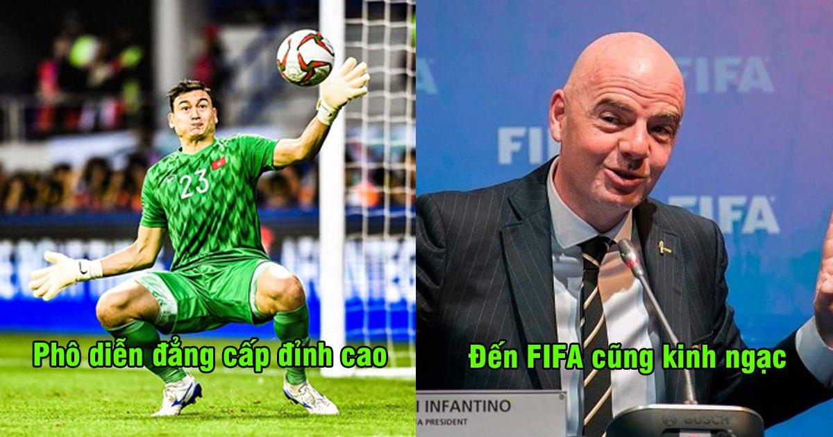 Cứu thua đẳng cấp, FIFA  phải lên tiếng kinh ngạc vì tài năng của Văn Lâm