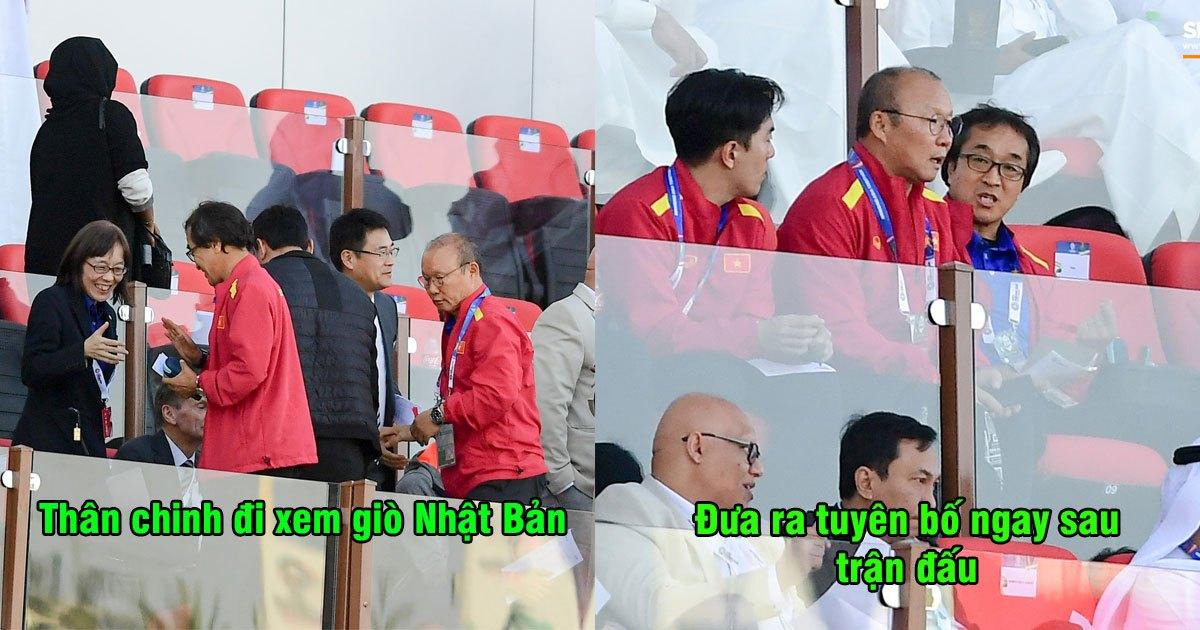 Lặn lội đến sân xem giò Nhật Bản, thầy Park lập tức đưa ra tuyên bố ngay sau khi trận đấu kết thúc