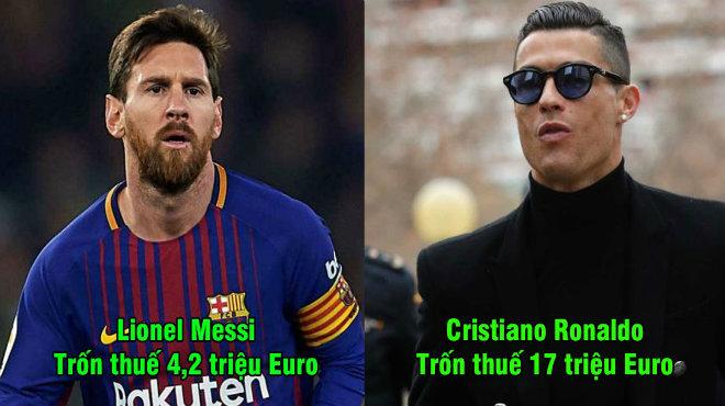 Đội hình siêu khủng gồm 11 ngôi sao vướng vòng lao lý vì trốn thuế: Cặp song sát Ronaldo – Messi lĩnh xướng hàng công