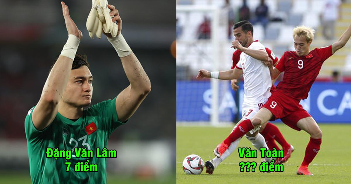 Chấm điểm cầu thủ Việt Nam đấu Iran: Vinh danh hàng phòng ngự trước đội bóng hàng đầu châu Á