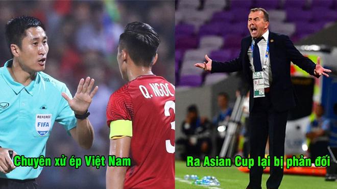 """Trọng tài Trung Quốc chuyên xử ép Việt Nam lại bị tố """"cướp trắng"""" bàn thắng quan trọng ở Asian Cup"""