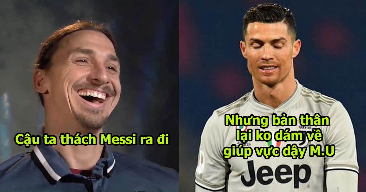 """Ibrahimovic: """"CR7 có dám chuyển tới những CLB yếu để nâng tầm họ không? Sang Juve có gì mà tự hào"""""""