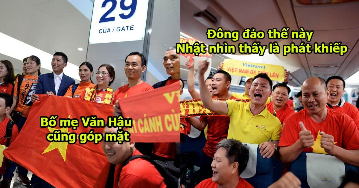 CHÙM ẢNH: Đoàn CĐV Việt Nam hoành tráng chưa từng có đến UAE ra oai, người Nhật nhìn thấy đã cảm thấy nể rồi