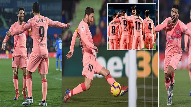 """Kết quả Getafe vs Barcelona: """"Song sát"""" lập công, phong độ lên đồng"""