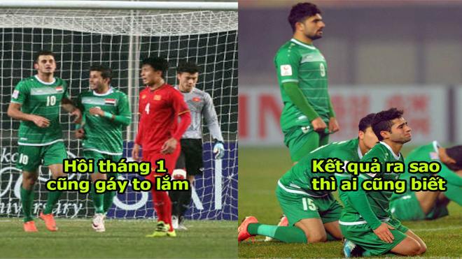 """Cầu thủ Iraq: """"ĐTVN mạnh yếu ở đâu bọn tôi nắm hết trong lòng bàn tay rồi; Việt Nam đầu hàng đi là vừa"""""""