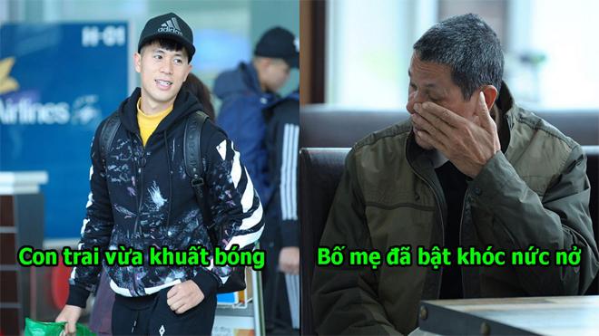 Chùm ảnh: Đình Trọng sang Hàn Quốc điều trị chấn thư.ơng, bố mẹ không kìm được mà khóc ngay tại sân bay