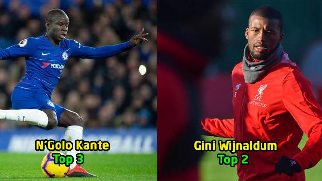 Top 10 tiền vệ phòng ngự hay nhất Premier League: Quá bất ngờ khi Kante chỉ xếp thứ 3